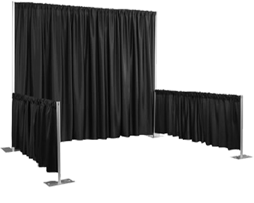 used pipe and drape bases in a relationship